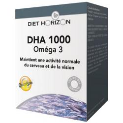 DHA 1000 Oméga 3 60 capsules - Diet Horizon