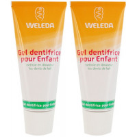 Weleda lot de 2 Gel dentifrice enfant dents de lait 2 x 50 ml, dentifrice bio enfant, aromatic Provence