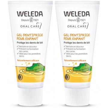 Lot de 2 Gels dentifrice enfant dents de lait 2 x 50 ml Weleda