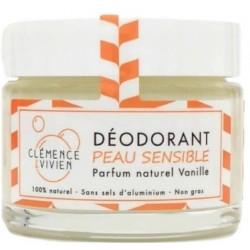 Baume déodorant Peau sensible à la Vanille 50gr - Clemence & Vivien