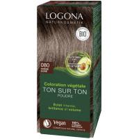 Coloration végétale Ton sur Ton poudre Chêne doré 080 100gr - Logona Soin Colorant Aromatic Provence