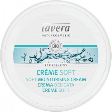 Crème Soft jojoba Aloé Vera Basis Sensitiv 150 ml - Lavera