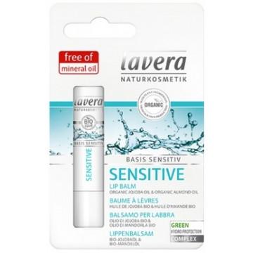 Baume à lèvres Jojoba  bio et amande bio Basis Sensitiv 4.5 g - Lavera
