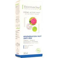 Crème active nuit régénération anti âge 50ml Dermaclay tonifie régénère Aromatic provence