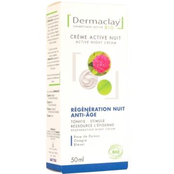 Crème active nuit régénération anti âge 50ml Dermaclay