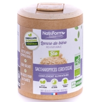 Levure de bière revivifiable vivante Bio 200 gélules Nat et Form,   Beauté de la peau, Aromatic provence