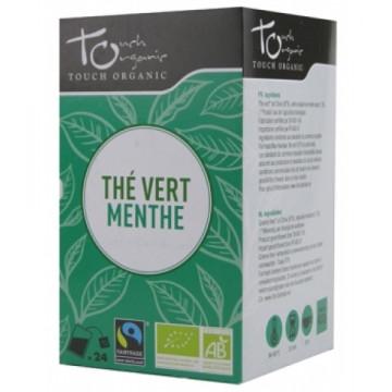 Thé vert bio à la Menthe 24 sachets - Touch Organic