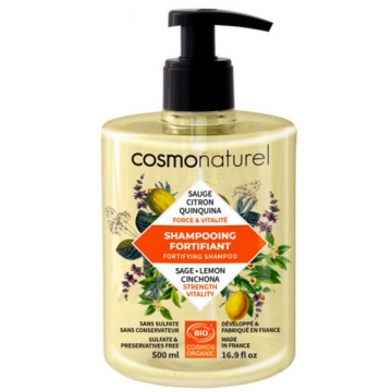 Shampooing bio Fortifiant quinquina sauge 500 ml - Cosmo Naturel