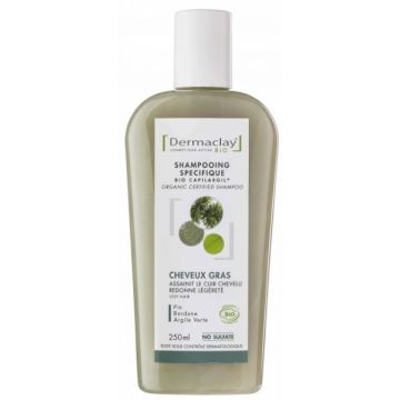 Shampooing traitant Cheveux gras 250 ml - Dermaclay