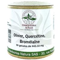 Olivier Quercétine Bromélaïne 90 Gélules - Herboristerie de Paris tension coeur Aromatic Provence
