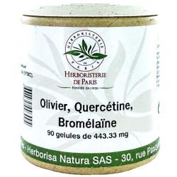 Olivier Quercétine Bromélaïne 90 Gélules - Herboristerie de Paris