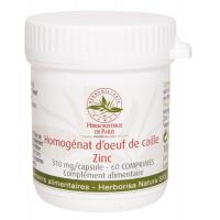 Homogénat d'Oeuf de Caille Zinc 60 Comprimés Herboristerie de paris  Coturnix beminae japonicea Aromatic Provence