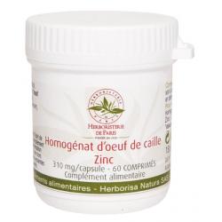 Homogénat d'Oeuf de Caille Zinc 60 Comprimés - Herboristerie de Paris