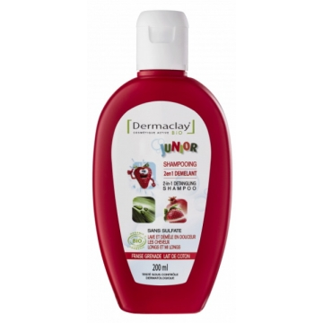 Shampooing 2 en 1 démêlant Junior 200 ml - Dermaclay