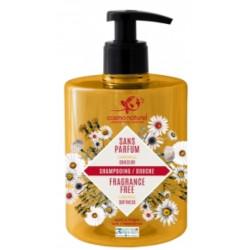 Shampooing douche sans parfum à l'extrait de Camomille 500 ml - Cosmo Naturel