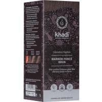 Coloration végétale Marron Foncé brun 100 gr - Khadi, coloration cheveux aromatic provence