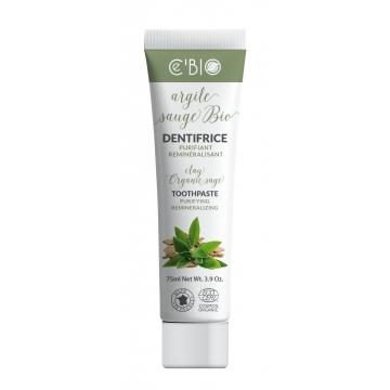 Dentifrice Argile Sauge bio 75 ml - C'BIO