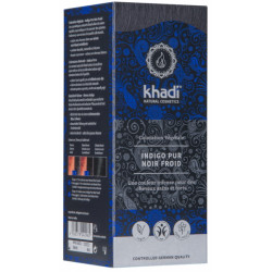 Coloration végétale Indigo Pur Noir Froid 100 gr - Khadi