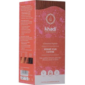 Coloration végétale Henné Pur cuivré 100 gr - Khadi