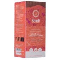 Coloration végétale Henné Amla et Jatropha rouge 100 gr - Khadi, coloration cheveux aromatic provence