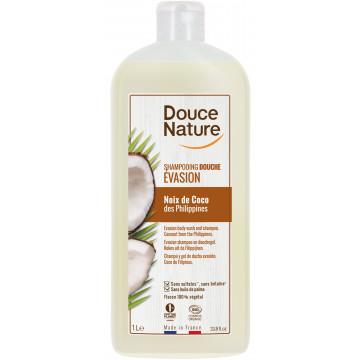 Shampoing douche evasion Noix de Coco des Philippines 1L - Douce Nature