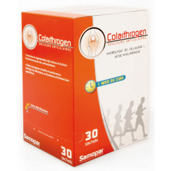 Colarthrogen  Collagène marin Acide hyaluronique 30 sachets plus 2 offerts - Monapharm