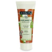 Gel dentifrice Junior à la Fraise dès 3 ans 50 ml jolies quenottes - Coslys - Hygiène bio - Aromatic Provence