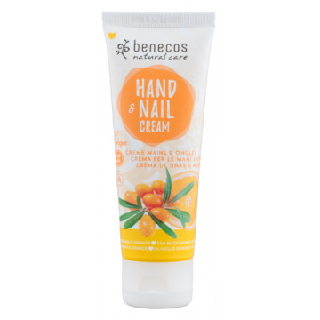 Crème mains et ongles Argousier et Orange 75 ml - Benecos