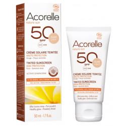 Crème Solaire teintée SPF 50 clair 50ml - Acorelle