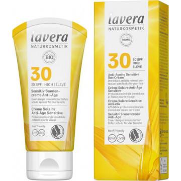 Crème solaire anti âge sensitive SPF 30 50ml - Lavera