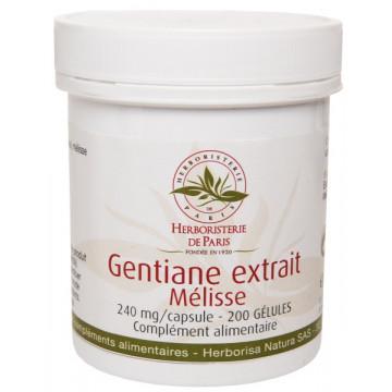 Gentiane Extrait Mélisse 200 Gélules - Herboristerie de Paris