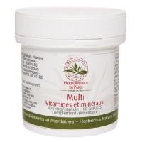 Multi Vitamines et minéraux 60 Gélules - Herboristerie de Paris tonus et vitalité Aromatic provence