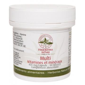 Multi Vitamines et minéraux 60 Gélules - Herboristerie de Paris