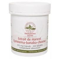 Gluci silhouette Extrait de Haricot Gymnema sylvestre Banaba Chrome 200 Gélules - Herboristerie de paris Aromatic Provence