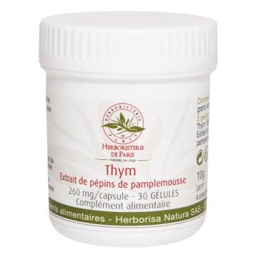Thym Extrait de pépins de pamplemousse 30 Gélules - Herboristerie de Paris