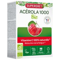 Acérola 1000 Vitamine C Bio 24 comprimés Super Diet,Acérola 1000 Super Diet,super diet, aromatic provence
