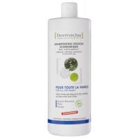 Shampooing Douche économique Romarin Sauge Thym Argile blanche 1L - Dermaclay pour toute la famille Aromatic provence