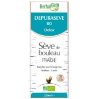 Dépurasève Bio Sève de bouleau bio Flacon 250 ml - Herbalgem draineur detox Aromatic Provence
