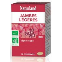 Vigne rouge 90 comprimés bio Jambes légères - Naturland anthocyanes protecteurs Aromatic provence