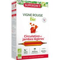 Vigne rouge bio 20 ampoules Super Diet - Complément alimentaire Circulation Aromatic provence