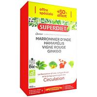 Quatuor Vigne rouge Ginkgo  Marronnier Hamamélis 20 + 10 ampoules  - Super Diet Aromatic Provence