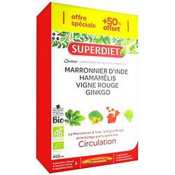 Quatuor Vigne rouge Ginkgo biloba Marronnier Hamamélis 20 + 10 ampoules  - Super Diet