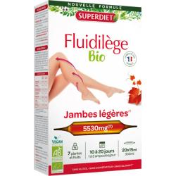 Fluidilège bio Circulation, Jambes légères 20 ampoules Super Diet