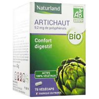 Artichaut Bio 75 Gélules Végécaps - Naturland foie vésicule biliaire digestion Aromatic provence