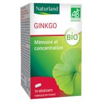 Ginkgo Biloba 75 Gélules Végécaps - Naturland flavonoïdes Aromatic provence