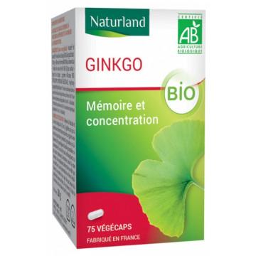 Ginkgo Biloba 75 Gélules Végécaps - Naturland