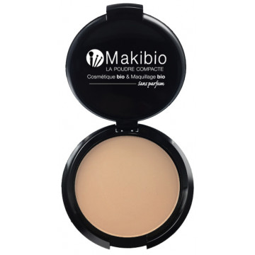 Poudre compacte Nude Naturel 9 gr - Makibio