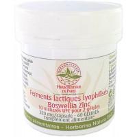 Ferments lactiques lyophilisés Boswellia Zinc MICI 60 Gélules Herboristerie de paris L glutamine Aromatic provence