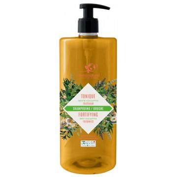 Shampoing douche Tonique 2 en 1 Fraicheur Menthe Eucalyptus 1L - Cosmo Naturel
