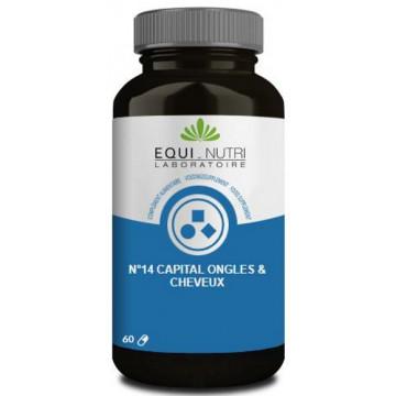 N° 14 Capital ongles cheveux 60 gélules végétales -Equi nutri